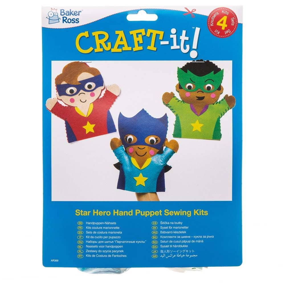 Star Hero Hand Puppet Sewing Kits Baker Ross