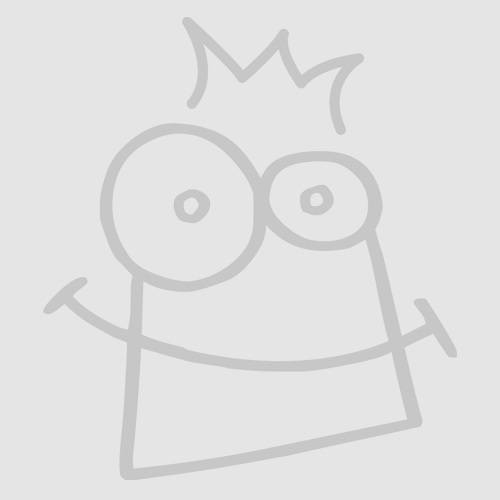 Baker Ross AT685 Design Your Own Mermaid Wooden Mirrors Pack of 4 Childrens Painting Set for Arts and Crafts Projects Assorted