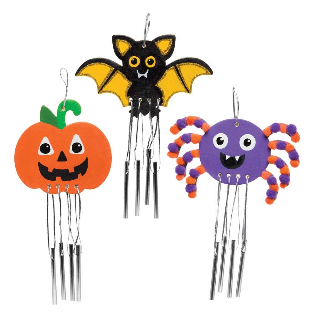 halloween wooden windchimes baker ross